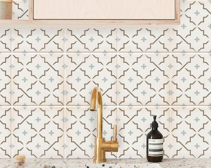 Encaustic Moroccan Tile Wall Stair Floor Self Adhesive Vinyl Etsy Flooring For Stairs Tile Decals Wall Tiles