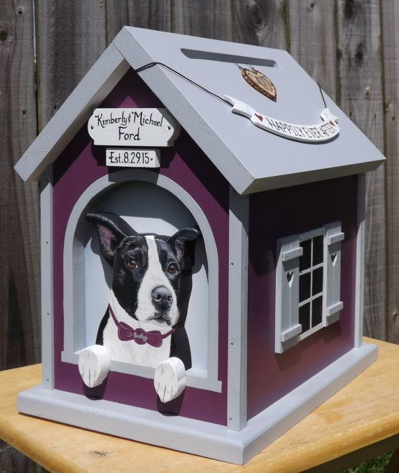 dog house wedding card box for medium weddings my wedding card dog rh pinterest com