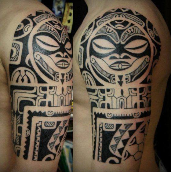 tatouage polynesien epaule modele tatouages tattoos. Black Bedroom Furniture Sets. Home Design Ideas