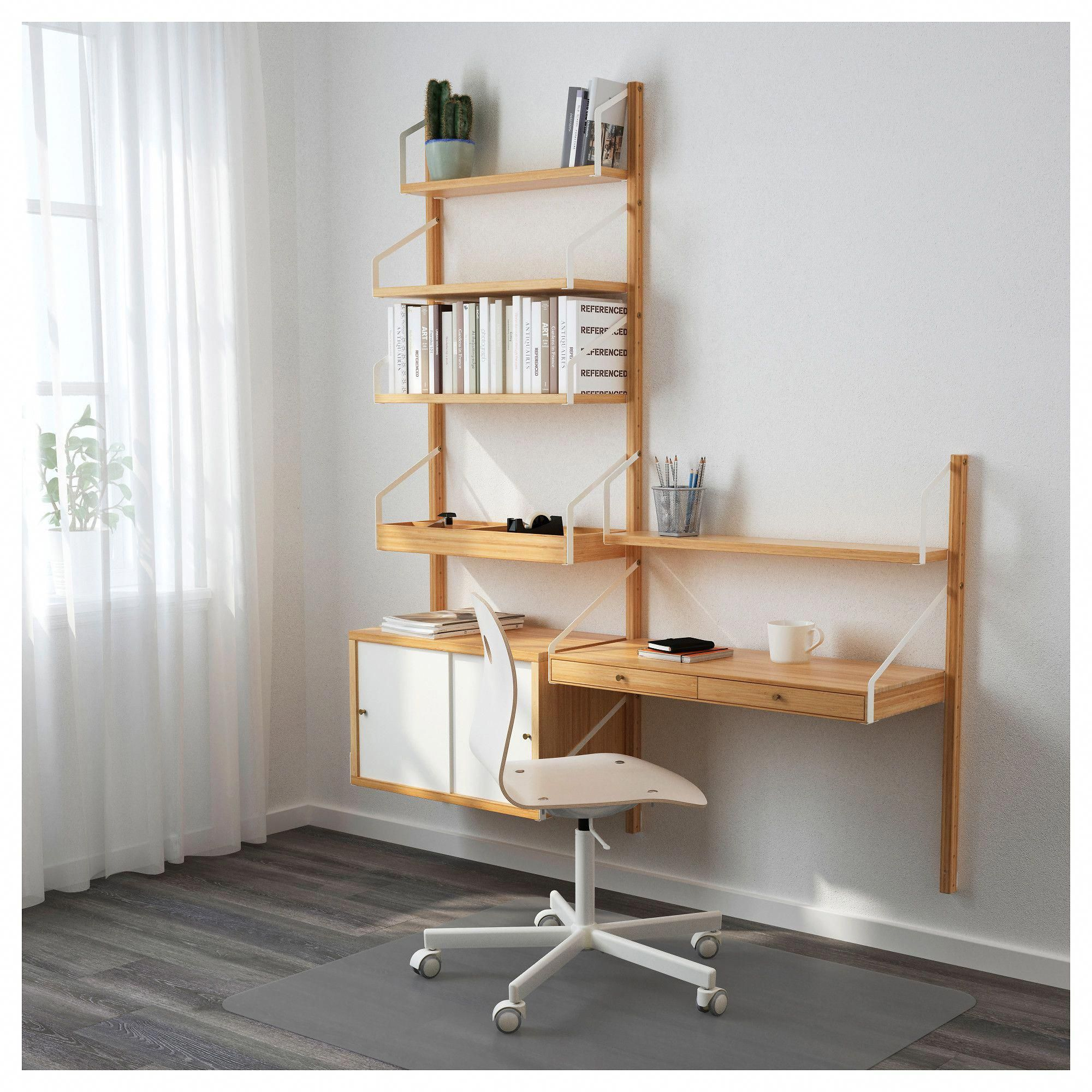 svaln s wall mounted storage combination bamboo white in 2018 rh pinterest com