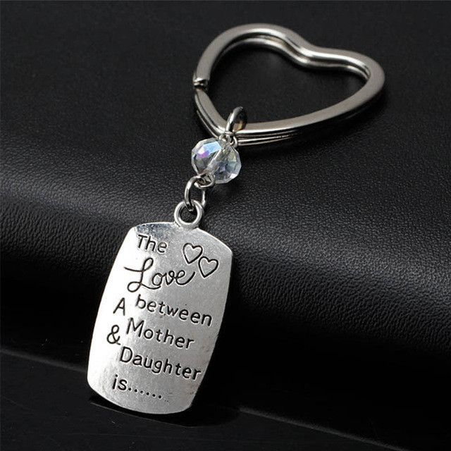 New Keychain for keys porte clef I love you mom dad keychain Love Heart  Keychain Red Tassel Key ring For Couple Women Chaveiro 52bfd23492