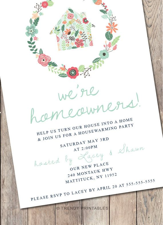 Housewarming Party Invitation Housewarming by TrendyPrintables - best of invitation letter format for housewarming