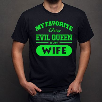 My Favorite Disney Evil Queen is my Wife - Iron On T-shirt Transfer Printable - digital download - Family Vacation matching shirts - DIsneyland - DIsneyworld - Personalized