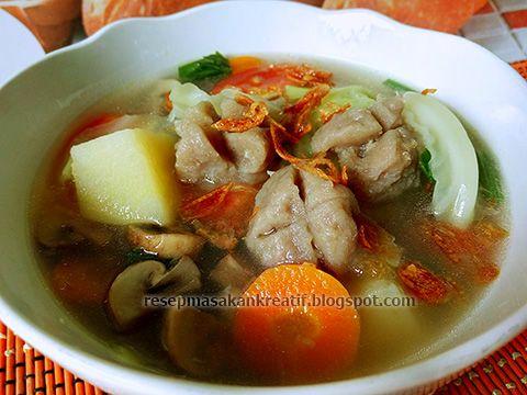 Resep Sayur Sop Bakso Sedap Dan Gurih Resep Masakan Resep Masakan Indonesia Masakan