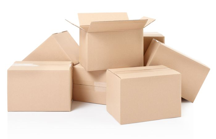 Cardboard Postage Boxes Single Wall Postal Mailing Pillar Candle Box 6 x 4 x 4/""