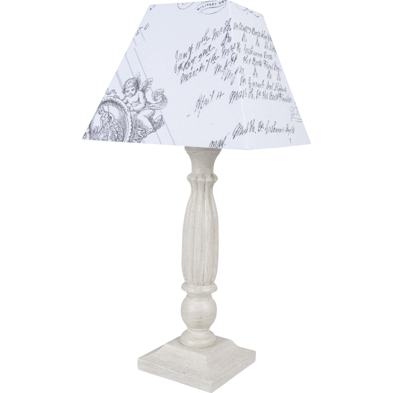 Lampe E27 Quatro Corep Coton Blanc 60 W Lampe Salon Lampe De Chevet Lamp