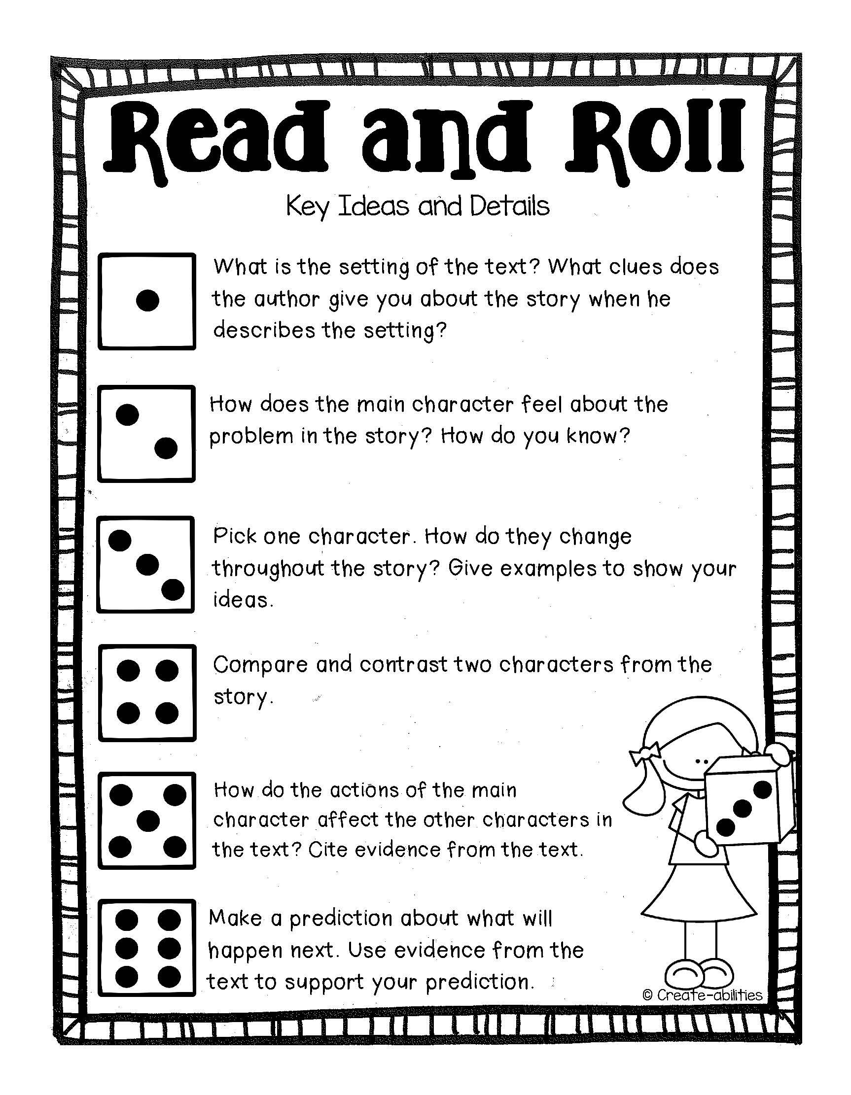Text Dependent Questions Read And Roll