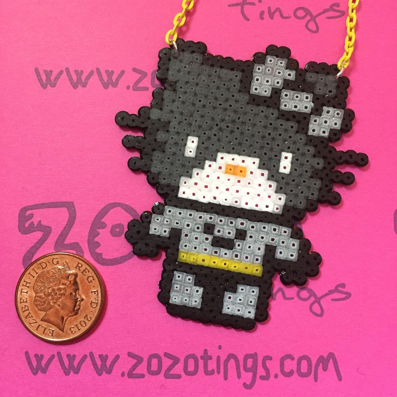 Batman Hello Kitty Perler  Necklace by ZoZoTings