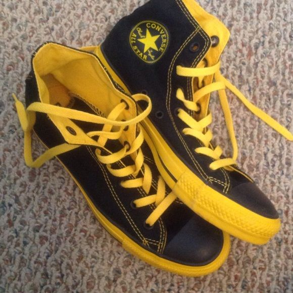 New black and yellow converse   Yellow