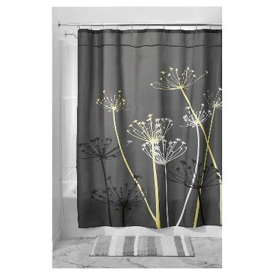 Floral Shower Curtain Idesign Gray Shower Curtains Shower