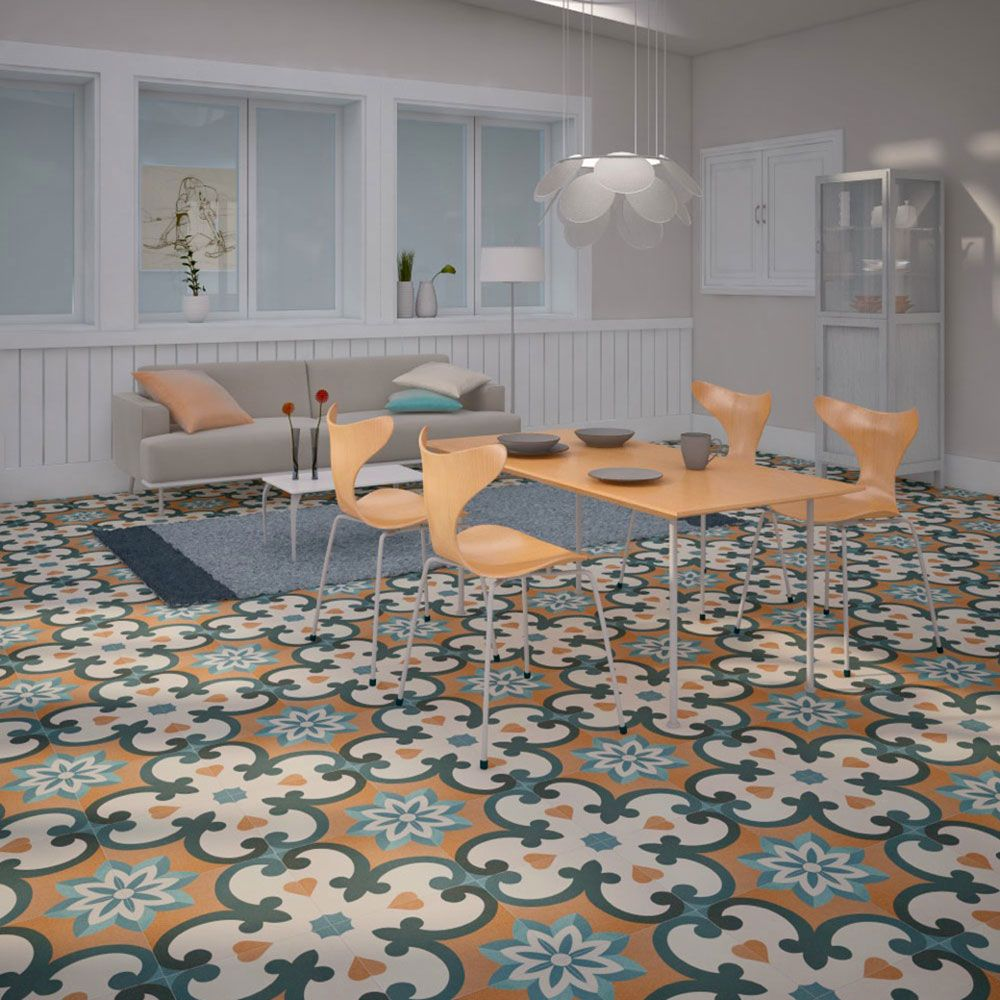 Moresque Encaustic Small Tiles - Piece together a beautiful floor ...