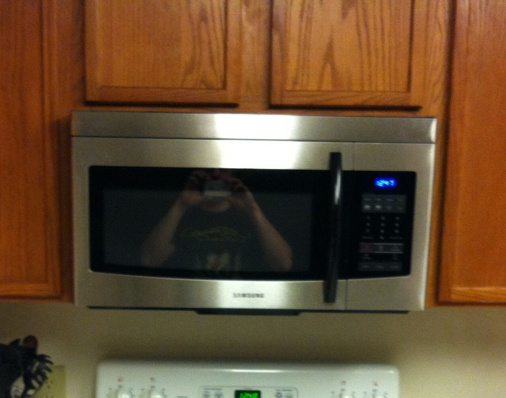 Project Complete Above The Oven Microwave Samsung Brand From