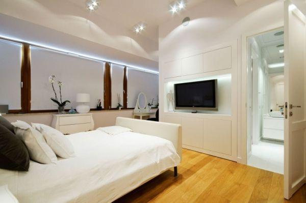 Schlafzimmer Weiß Design skandinavischer-Einrichtungsstil modern