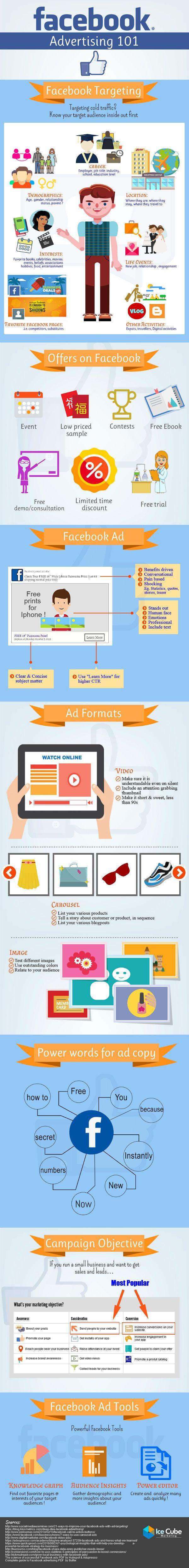 facebook advertising 101 infographic cd pinterest rh pinterest com Facebook for Business 101 101 Facebook Status