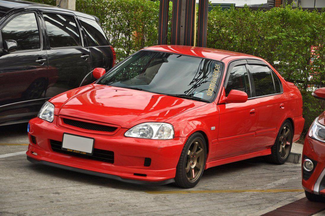 Red Civic Honda Civic Sedan Honda Civic Honda Civic Vtec