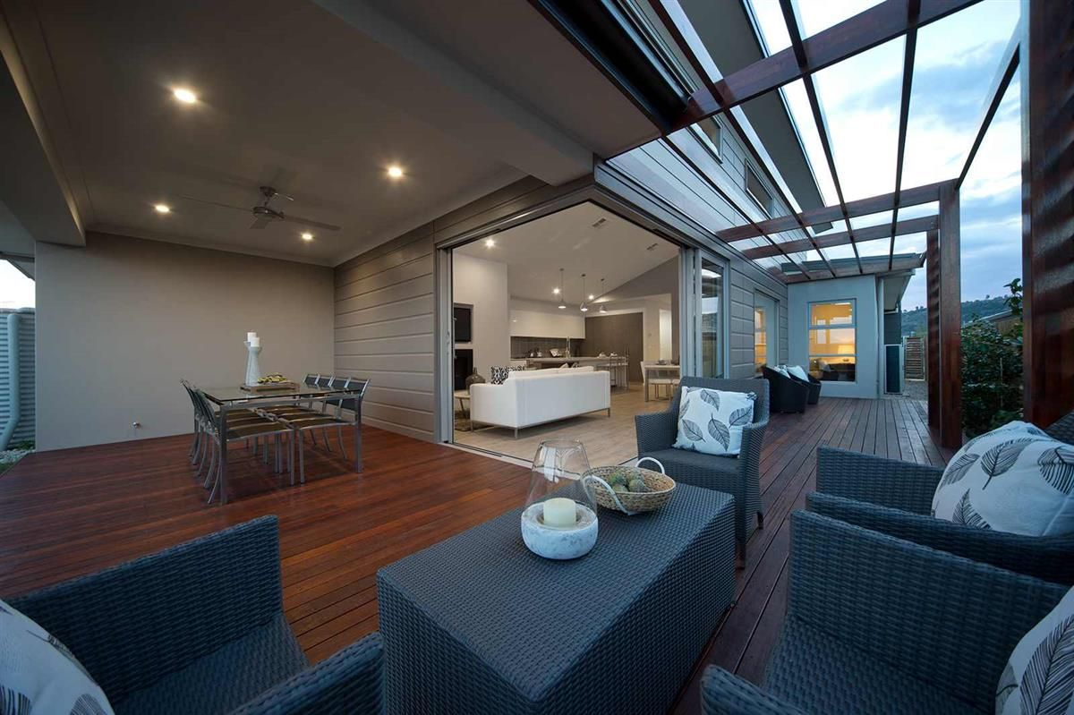 Outdoor living design with bbq area from a real australian home - House