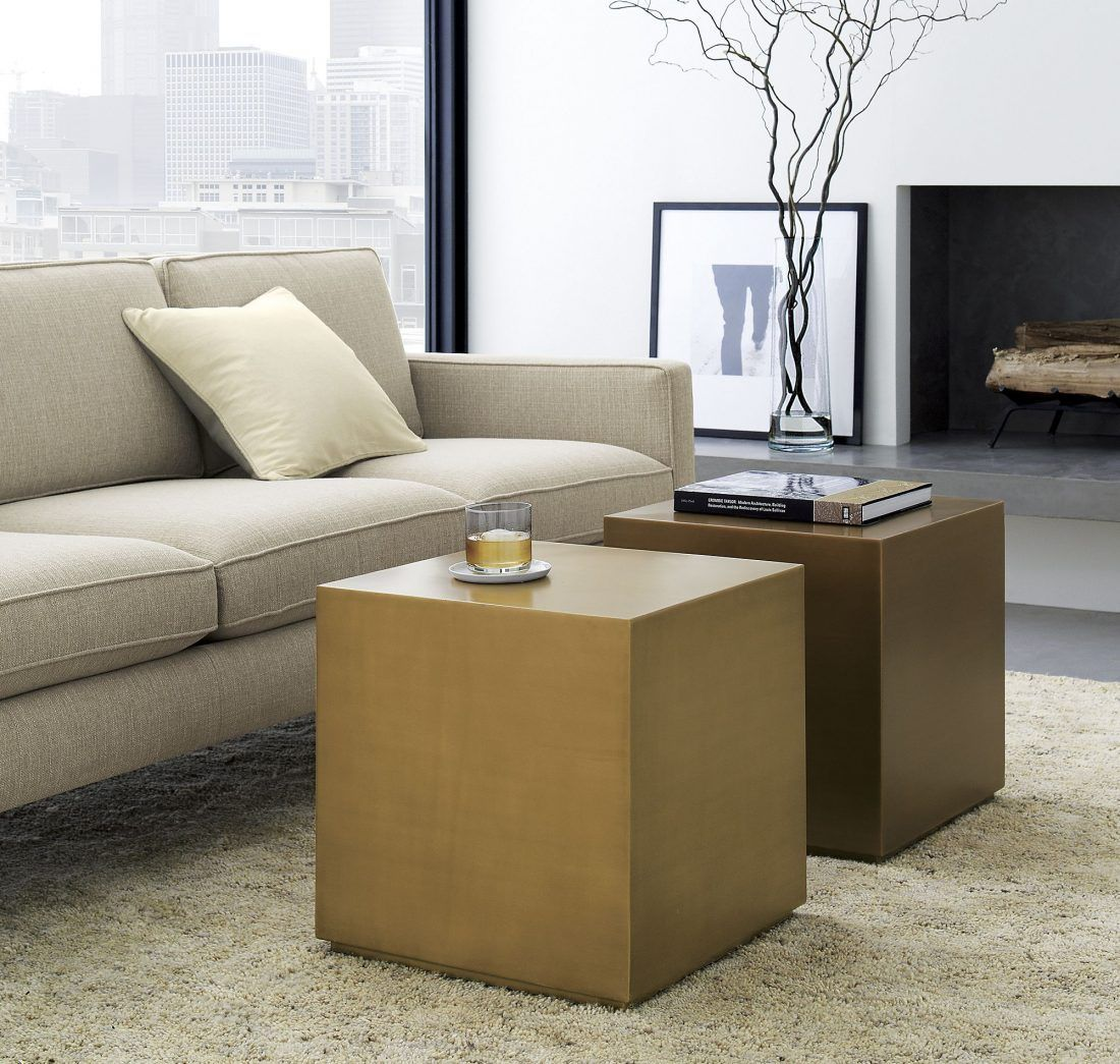 Interlude Home Aubrey Cube Side Table 1350 Vs Houzz Spencer Brass Side Table 259 Brass Gold Cube Table Look For Less Coffee Table Modern Shag Rugs Home Decor [ 1045 x 1100 Pixel ]