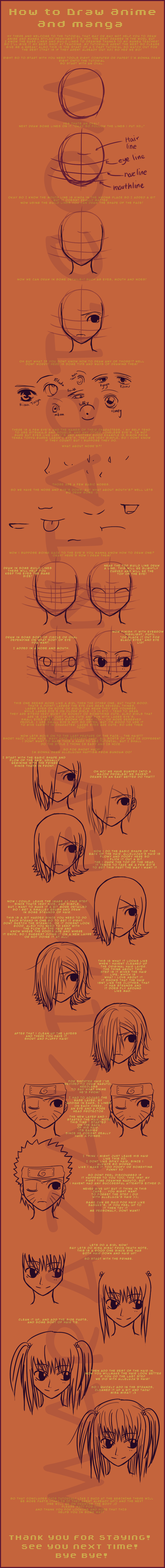 Tutorial 1 How To Draw Anime By Marazaki On Deviantart Anime Drawings Drawings Art Basics