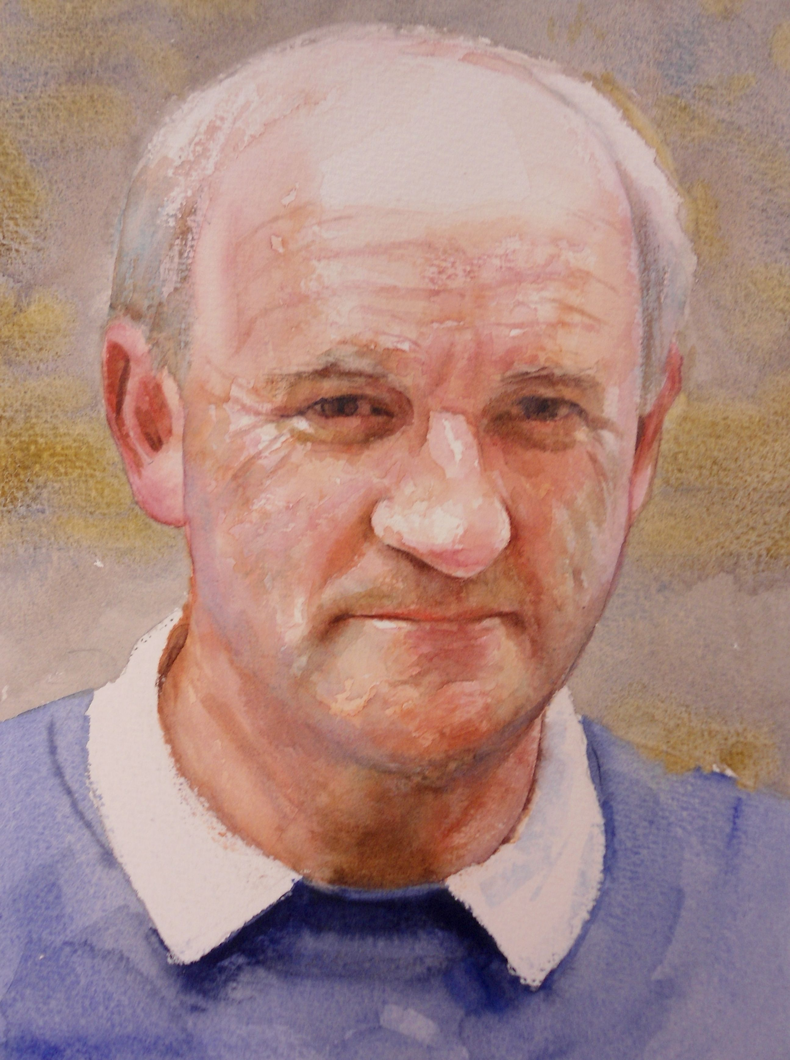 Bob Davies watercolour video lesson by Glynis Barnes Mellish