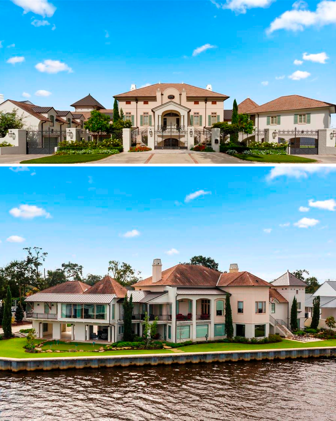 Panoramic Views Of The Lake Are Created By This Three Story Design With Patios And Balconies Fr Mansions For Sale Unique Properties For Sale Luxury Real Estate