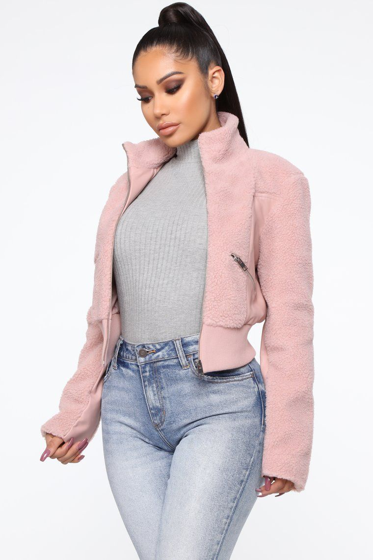 fashion nova pink bomber jacket