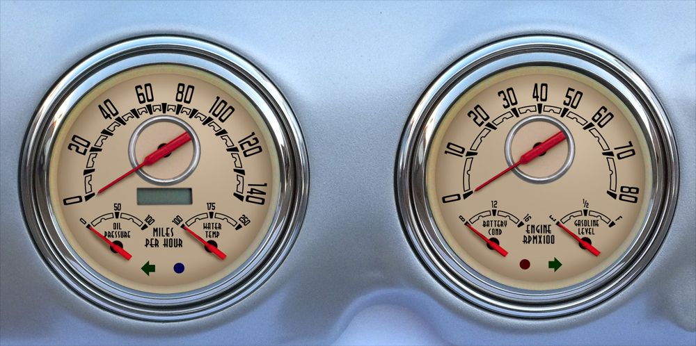 Chevy Pickup 54 55 Chevy Truck Dash Speedometer Temperature Fuel Guage Decal Set