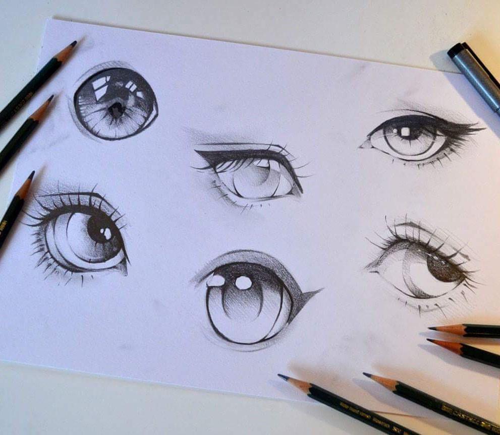 What S Your Favorite Pencil Eye Pencil Eye Cute Kawaii Manga Anime Sweet Adorable Lighanesartblog Lighane Copic Eye Sketch Drawings Eye Drawing