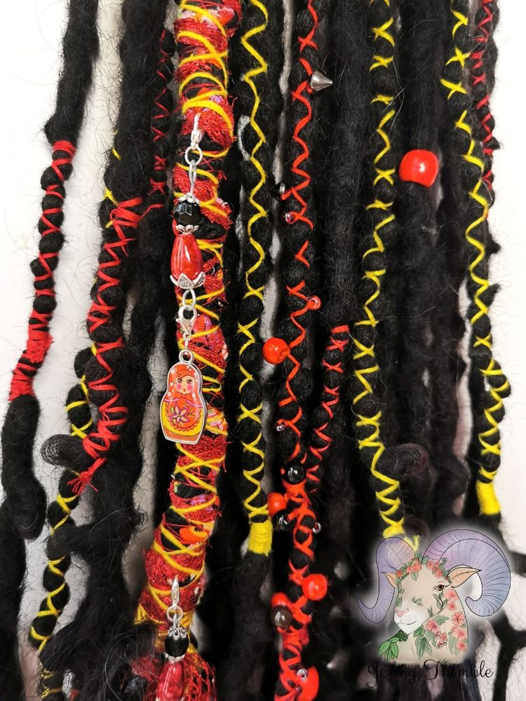 Wool dreads by Jenny Thimble  Loose hair ends  Chunky dread wrap Realistic texture #wooldreadlocks #wooldreads #dreads #dreadlocks #dreadslove #dreadhead #dreadextensions #dreadlockextensions #dreadsofinstagram #fakedreads #fauxlocs #dreadwraps #hairdecoration #hairextensions #alternativehair #jennythimble #locs #colourfuldreads #purpledreads #woolies #fibreartist #festivalhair #bohohair #faerielocks #syntheticdreads #silverdreads #syntheticdreadlocks #synthdreads #dreadsuk #pagangirl