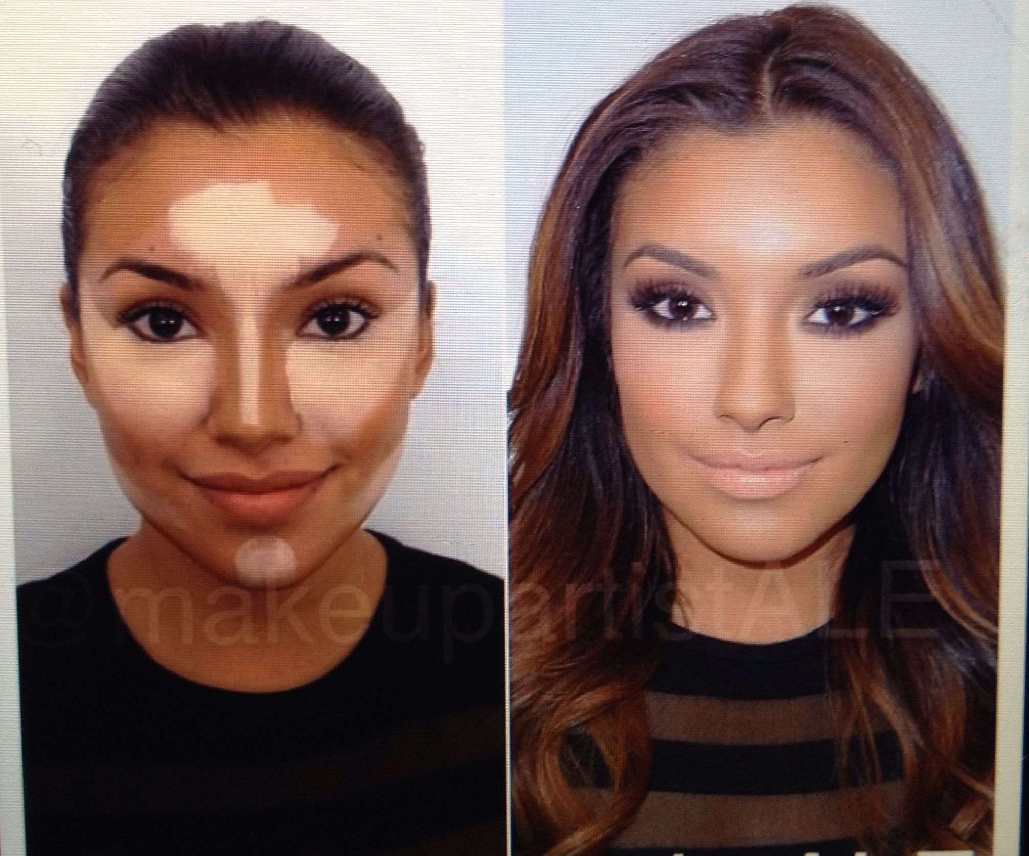 Face contouring tutorial makeup make up ideas pinterest face contouring tutorial makeup baditri Image collections