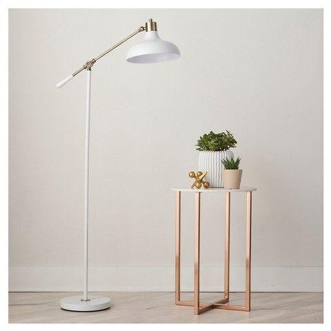 Crosby Schoolhouse Floor Lamp   White (Includes Cfl Bulb)   Threshold