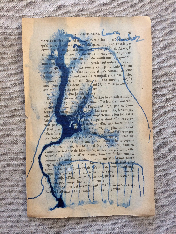 Croquis Dessin D Apres Modele Vivant Piece Unique Signe Sur Papier