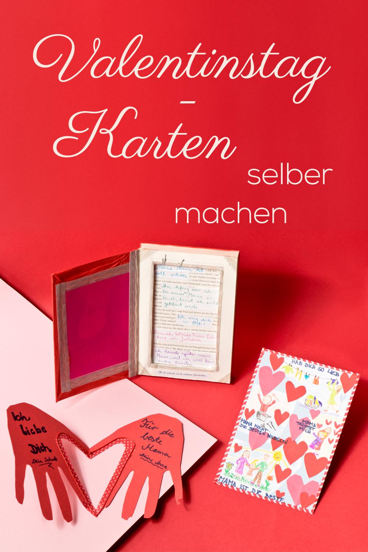 Valentinstag-Karte - von Herzen selbst gemacht | Valentinstag karten ...