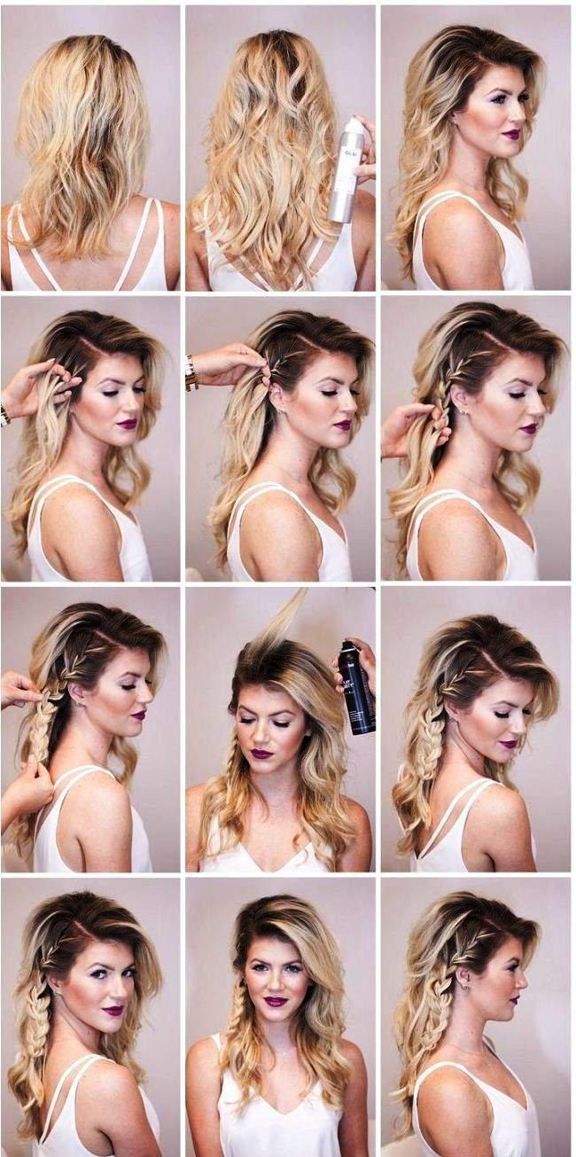 Einfache Party Frisuren fr lange Haare Tutorials Schritt