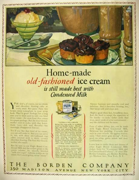 1927 Borden S Condensed Milk Ad Homemade Ice Cream Recipe Vintage Beverage Ads Other Vanilla Recipes Ice Cream Recipes Homemade Ice Cream Recipes
