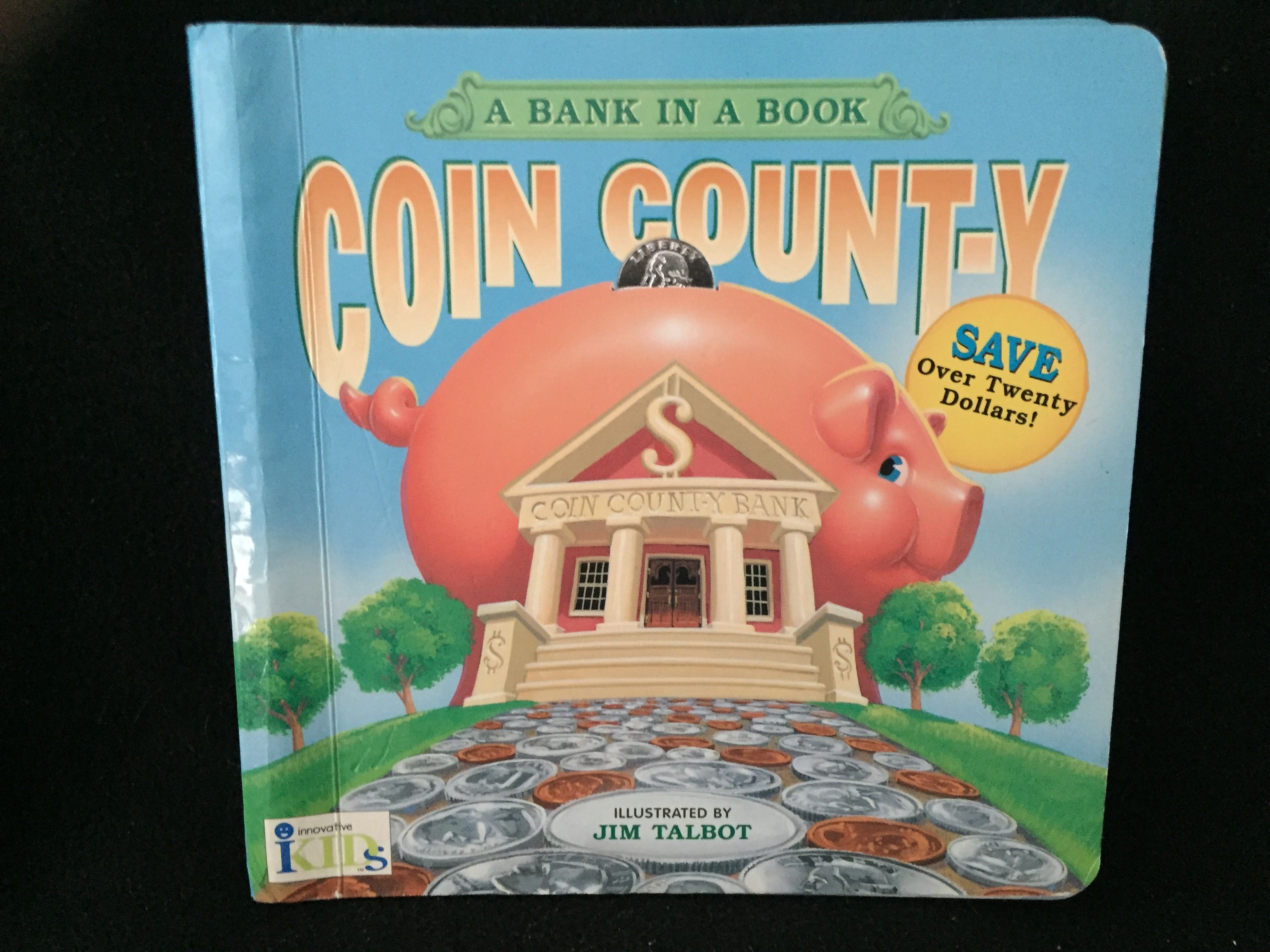 Coin County A Bank in a Book Board book Books, Coins