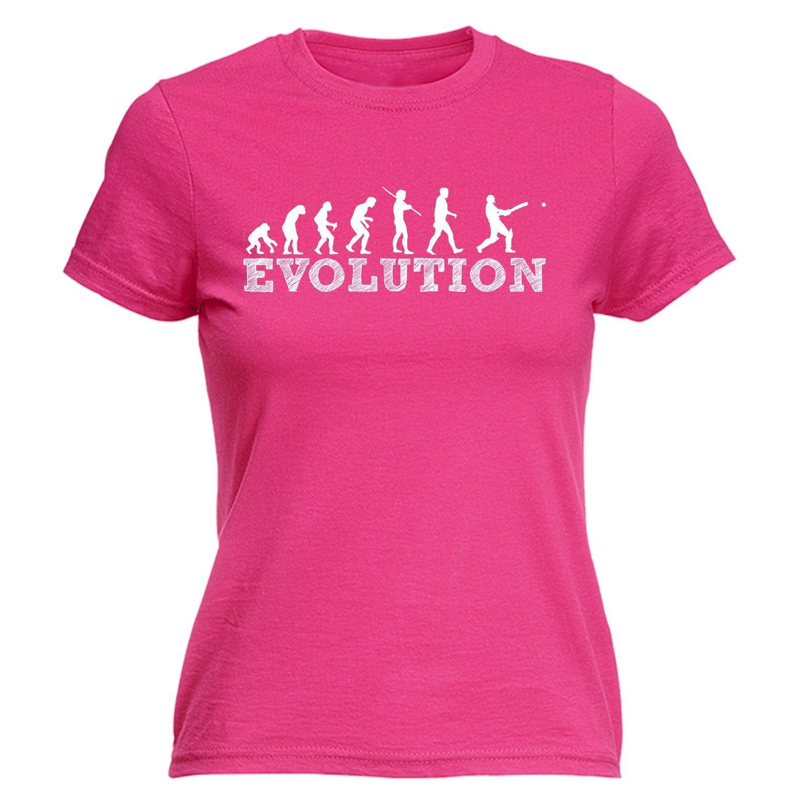 123t USA Women's Evolution Cricket Funny T-Shirt