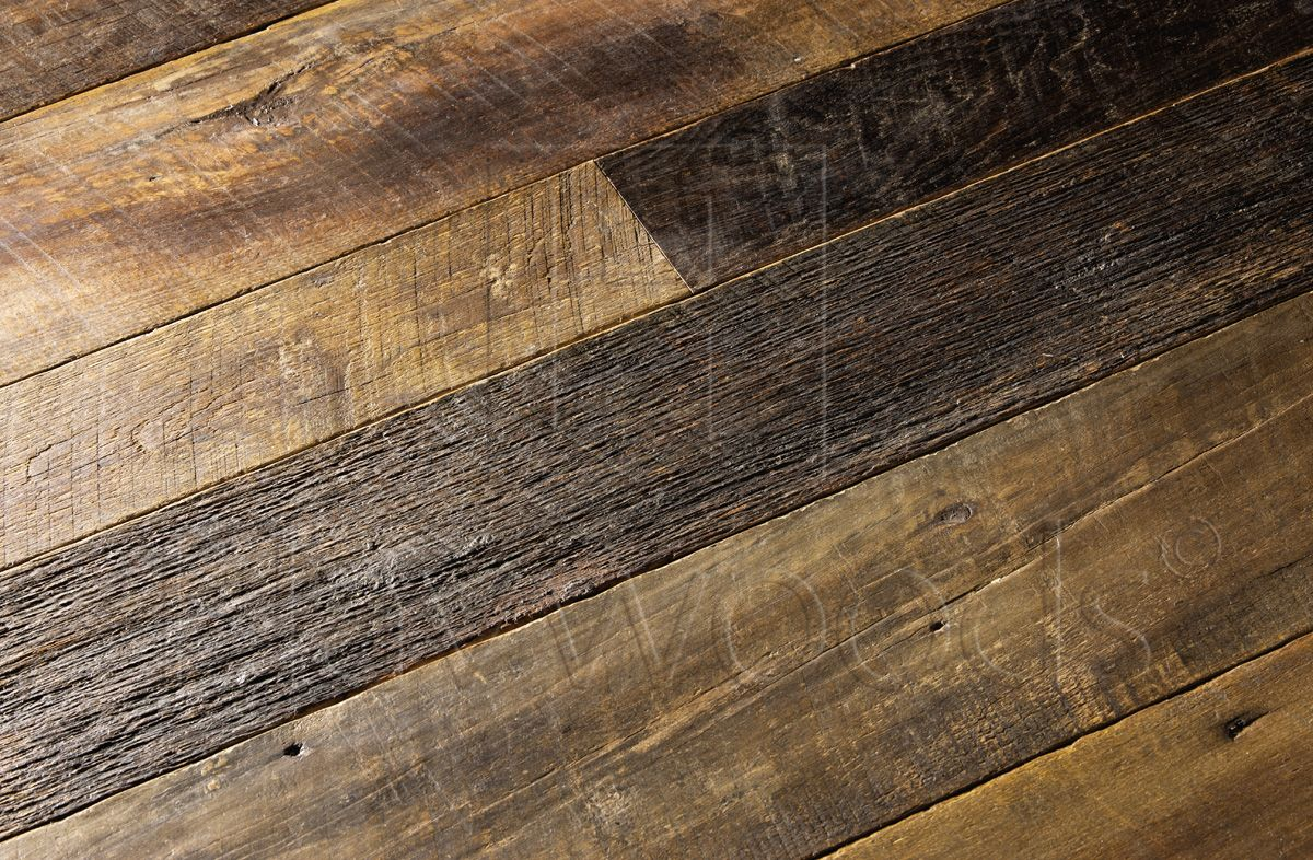 Recm2065 henley reclaimed dock oak extra rustic grade for Recycled hardwood