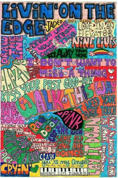 Aerosmith Songs Smashbook Muziek Muur