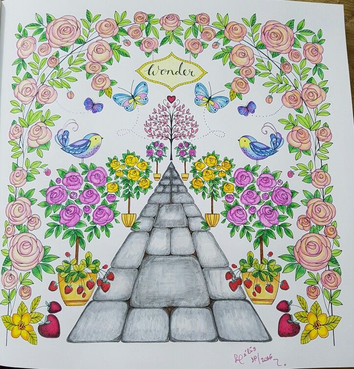 Joyous Blooms To Color Coloring Book Com Lapis Staedtler Aquarelavel Colorido Por Lelescristiane