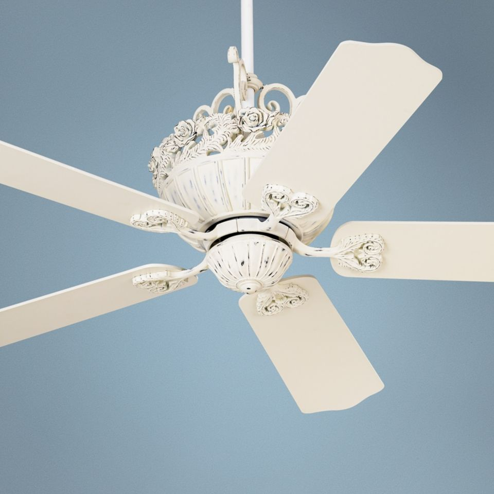 52 casa chic antique white ceiling fan 12277 shabby chic 52 casa chic antique white ceiling fan 12277 shabby chic perfection aloadofball Image collections