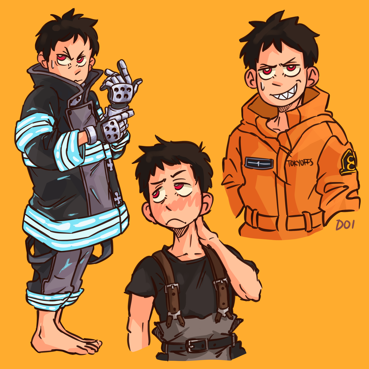 Pin by Kaitlynn Marshall on Fire Force Shinra kusakabe