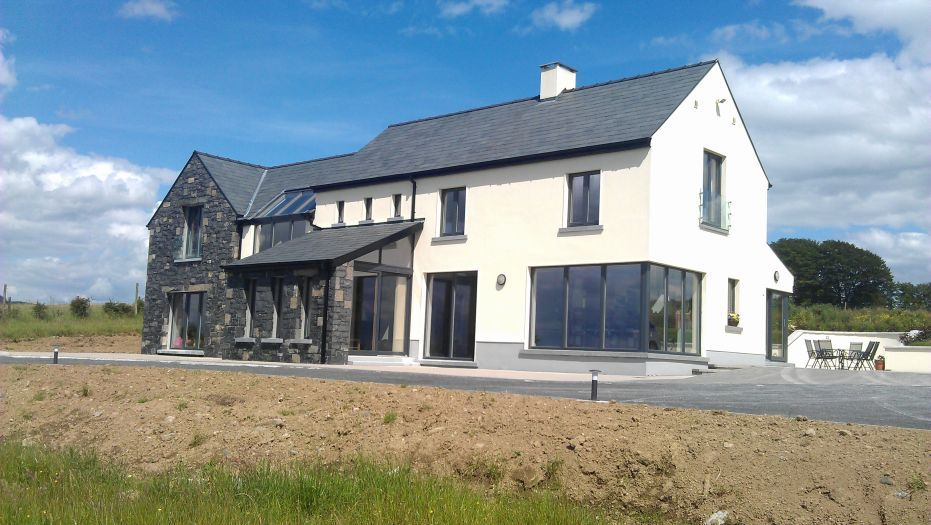 This Has A Few Things Corner Window Glazing Modern French Balcony Then More Traditional Gable R House Designs Ireland House Exterior House Plans Farmhouse