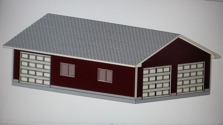 24 X 36 Garage Shop Plans Materials List Blueprints Garage Shop Plans Garage Plans Planning Materials
