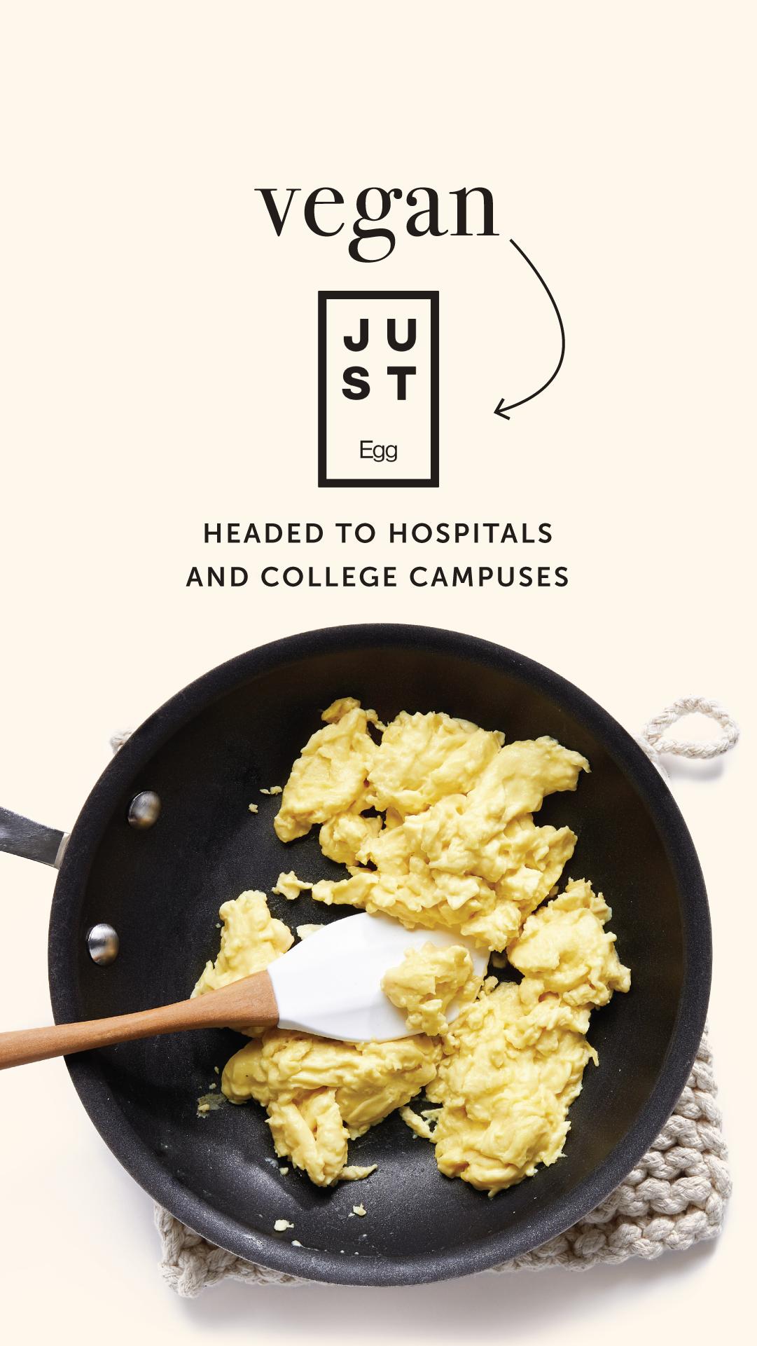 Vegan Just Egg Headed To Hospitals And College Campuses Chooseveg Recipes Vegan Eggs Vegan Egg Substitute
