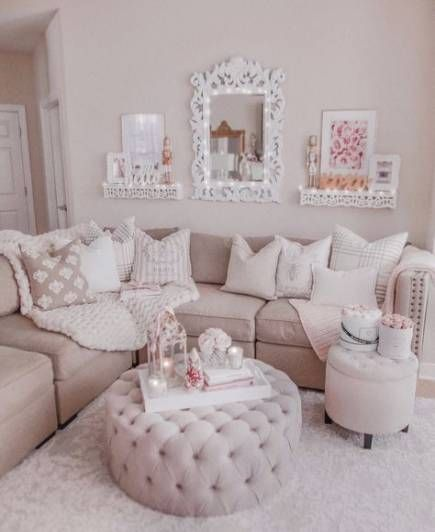 Super Apartment Decorating Girly Interior Design 46 Ideas Romantic Living Room Girly Living Room Pink Living Room