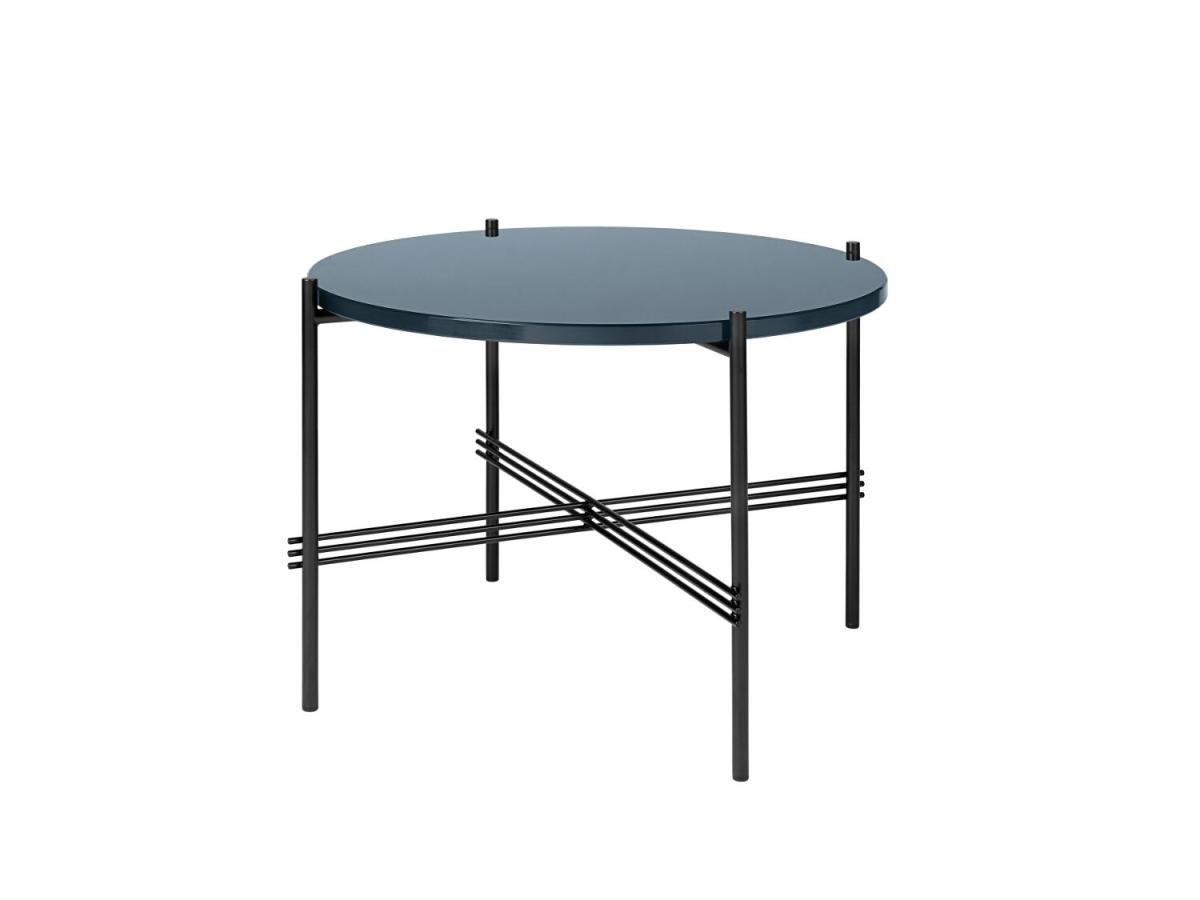 Wohnzimmertisch glas ~ Gubi ts couchtisch glas blue grey gestell schwarz Ø cm