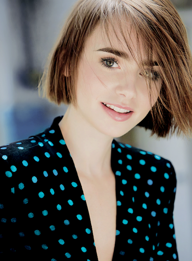 How cute is her bob?! Lily Collins stars in the October issue of Harper's Bazaar UK in a mix of fun feminine looks from Valentino, Christopher Kane and more. Her versatile bob haircut is what really steals the show though. We love seeing it go from pin straight to tousled, then wild with texture for a lot of edge. via @WhoWhatWear
