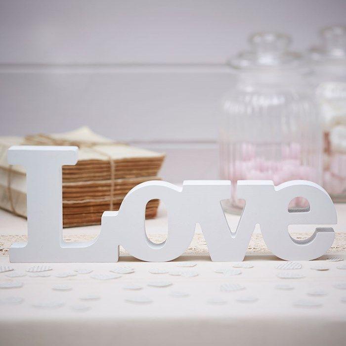 A Vintage Affair Wooden Love Sign   GettingPersonal.co.uk