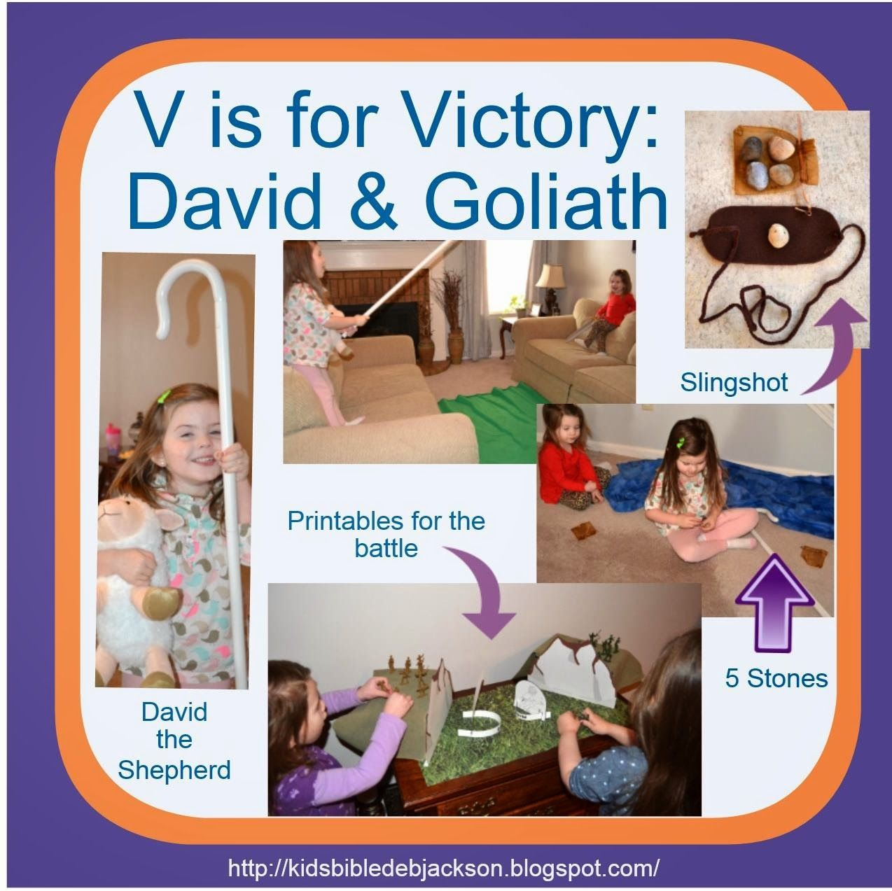 Preschool Alphabet V Is For Victory For David Amp Goliath