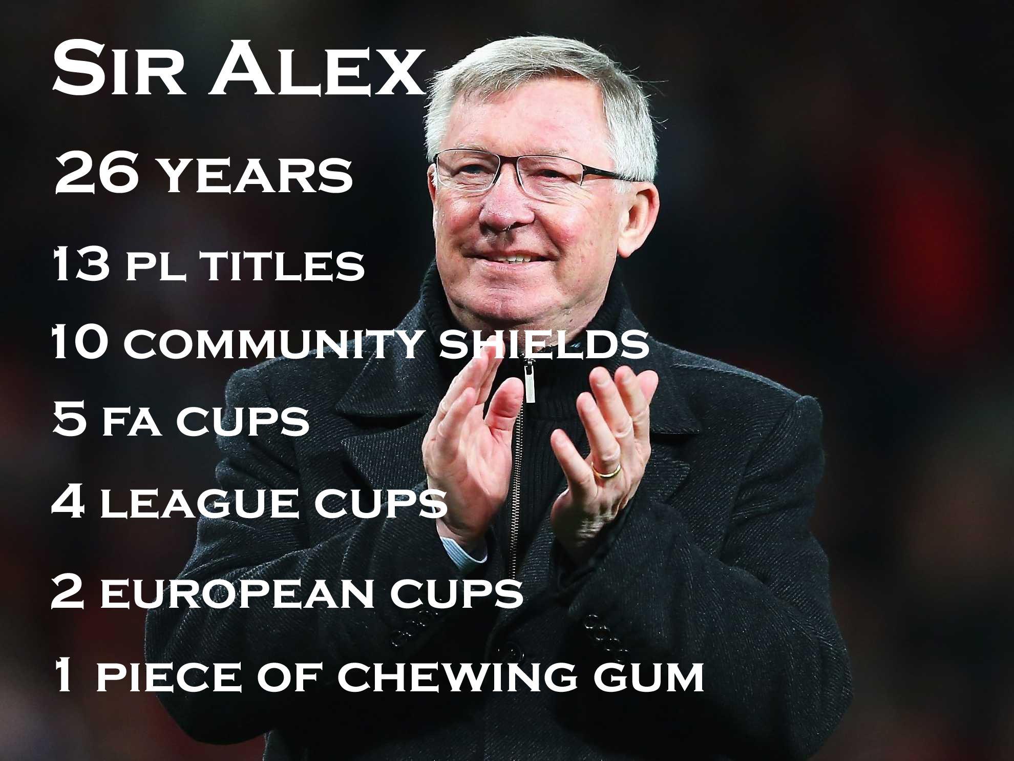 Football joke, Sir Alex, Chewing gum Football jokes